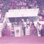 Ron Bergeron and Joe Flournoy at the IPRA World Finals. 1984