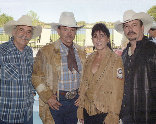Ron Bergeron and family members saddle up for ranch roam